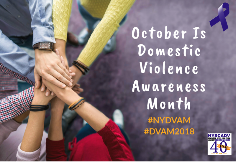 Domestic violence month october