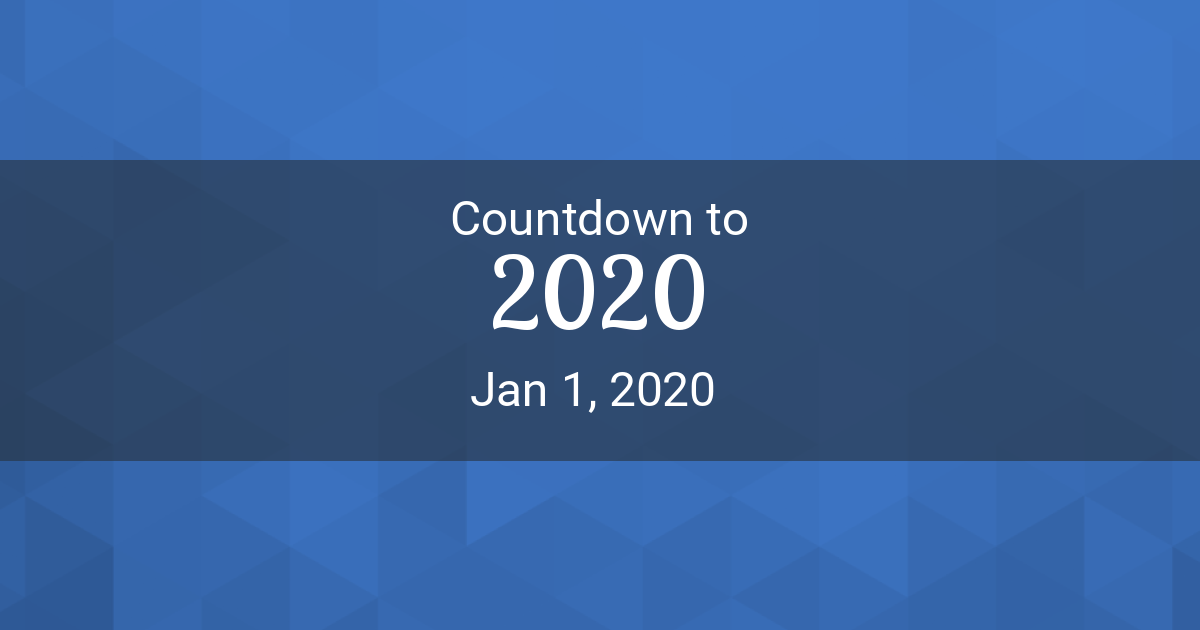 Countdown to 2020