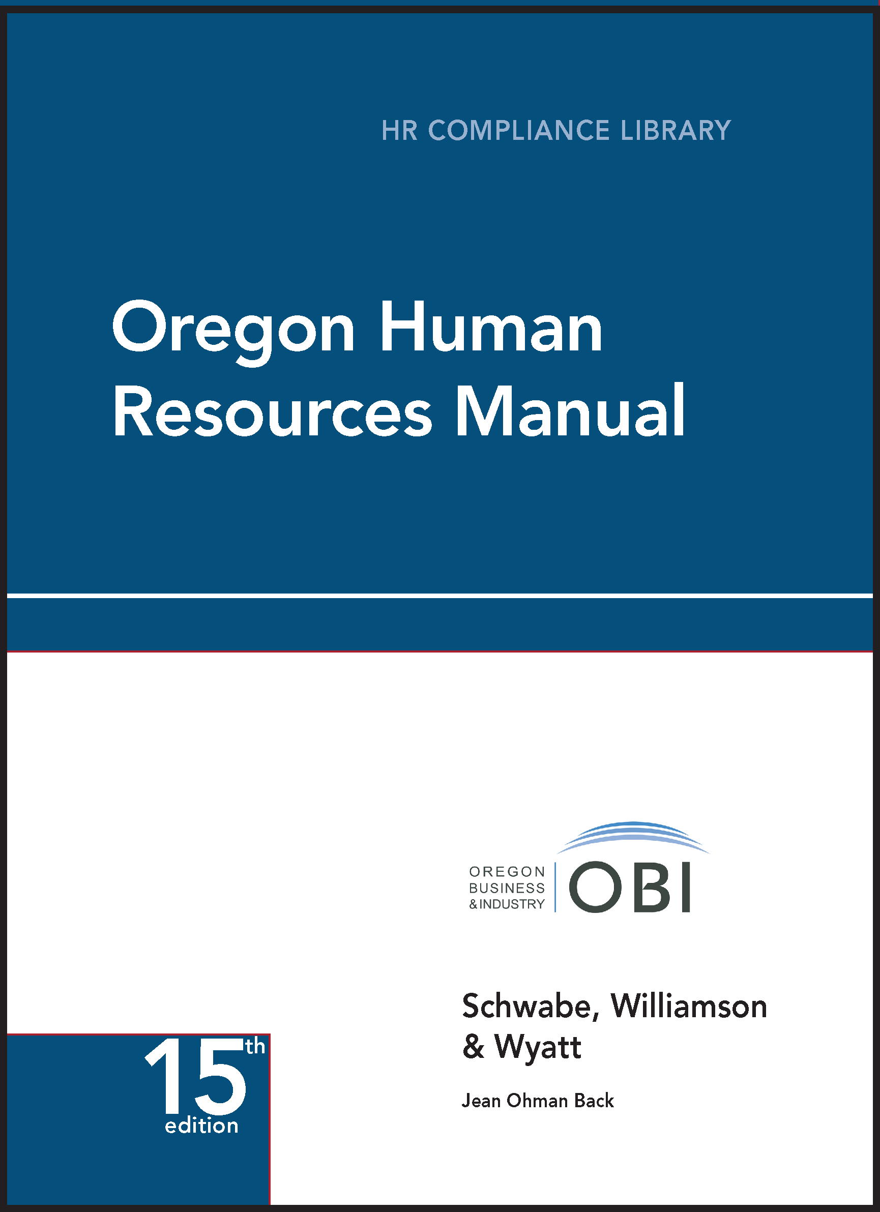 Oregon Human Resources Manual employment law image